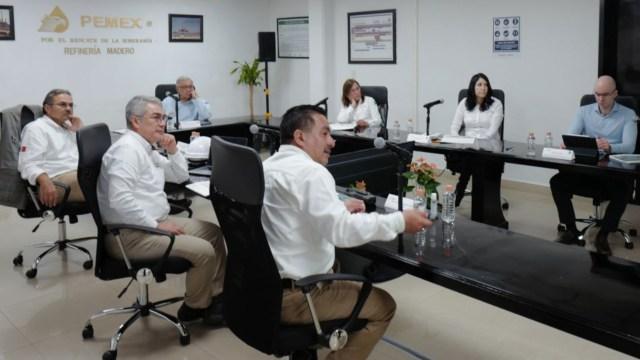 AMLO visita la refinería de Ciudad Madero para evaluar su modernización