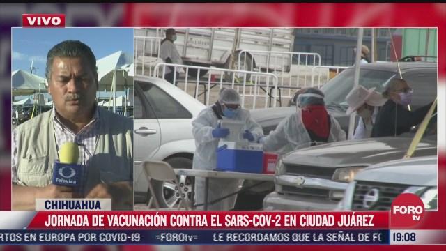 aplican al menos 25 mil dosis de la vacuna covid en ciudad juarez