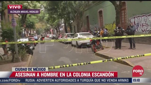 asesinan a balazos a hombre en la colonia escandon