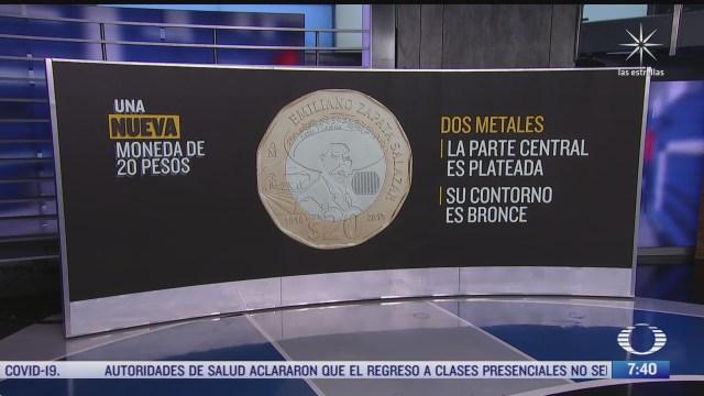 asi es la nueva moneda de 20 pesos en honor a emiliano zapata