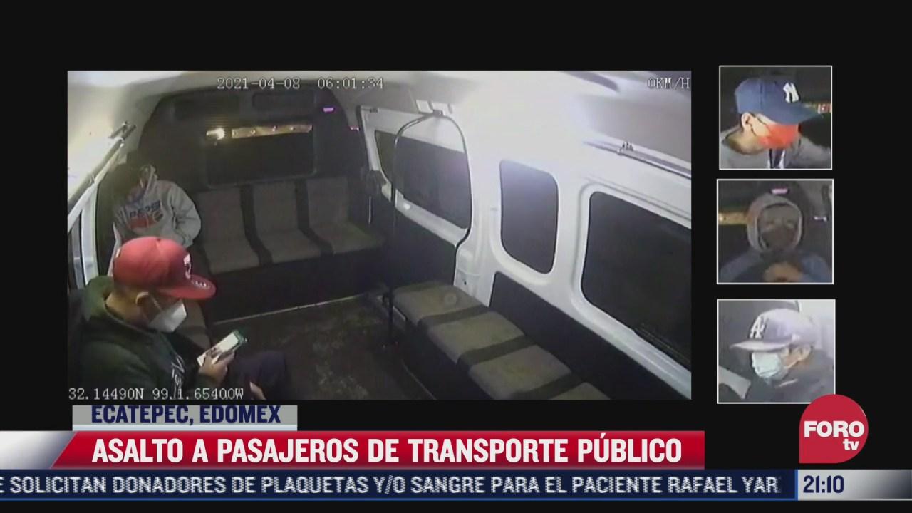 asi fue un asalto en el transporte publico en ecatepec