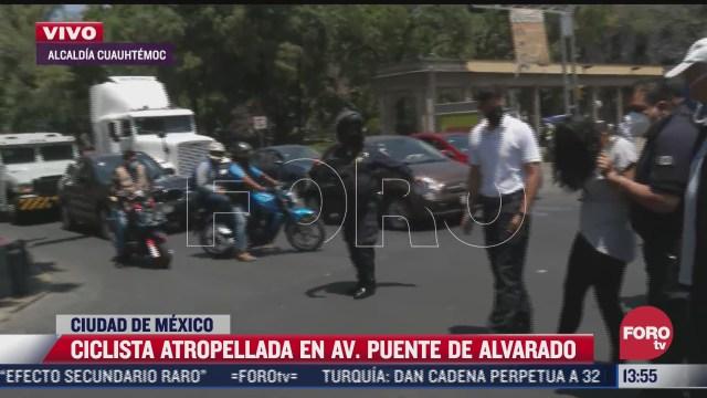 ciclista es atropellada en la alcaldia cuauhtemoc cdmx