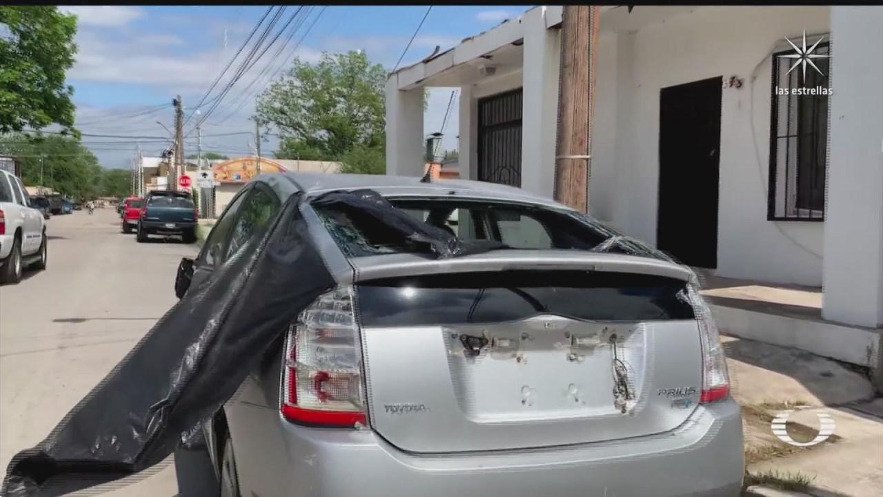 ciudad acuna coahuila tambien con afectaciones por enorme granizo