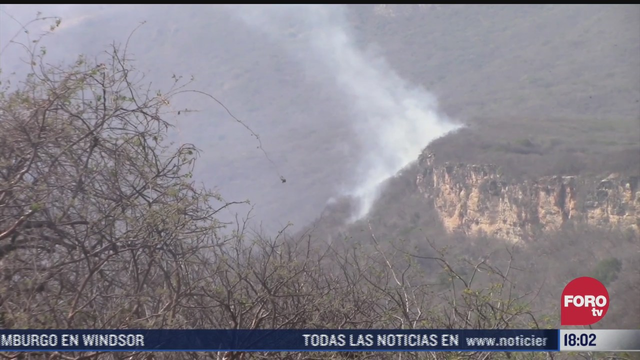 combaten 3 incendios forestales en el canon del sumidero chiapas