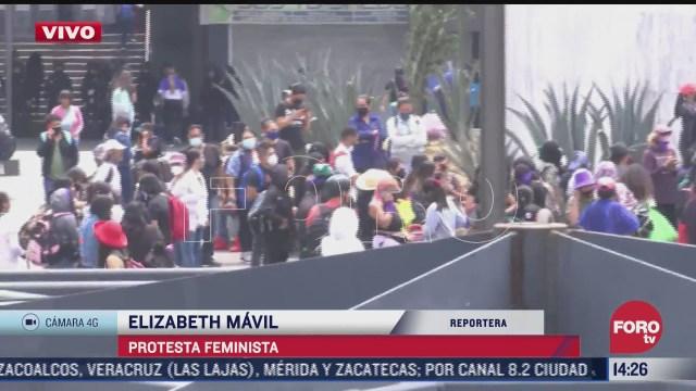 concluye protesta feminista en el metro insurgentes de la cdmx