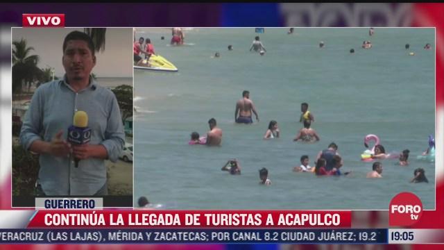 continua arribo de turistas a acapulco guerrero