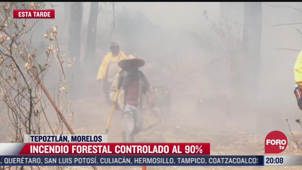 controlan en 90 incendio forestal en tepoztlan morelos