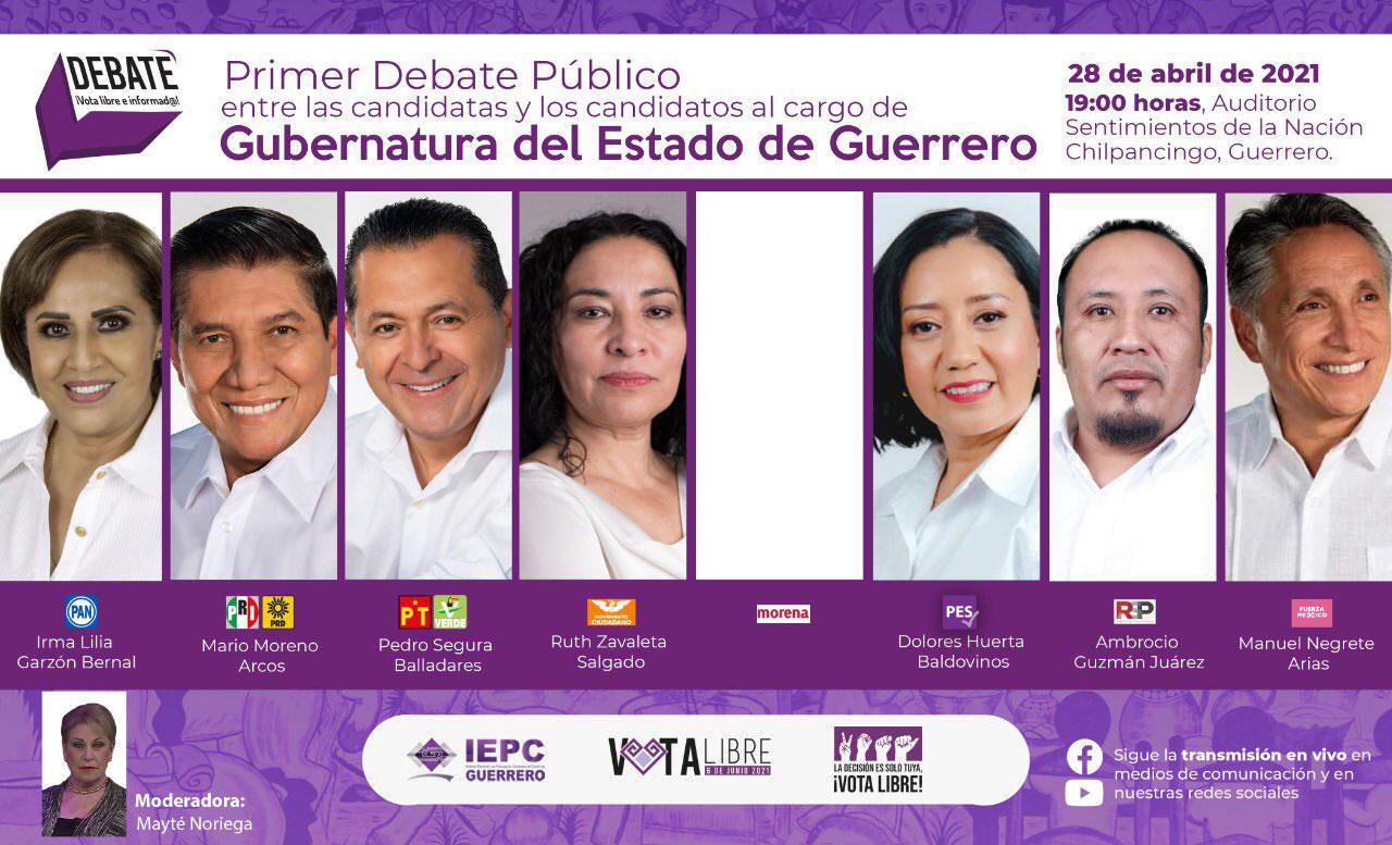 Cuándo es debate en Guerrero y dónde ver la transmisión