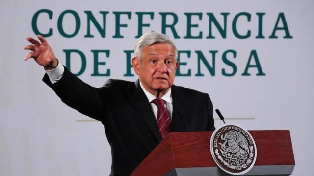 El presidente habla en conferencia matutina