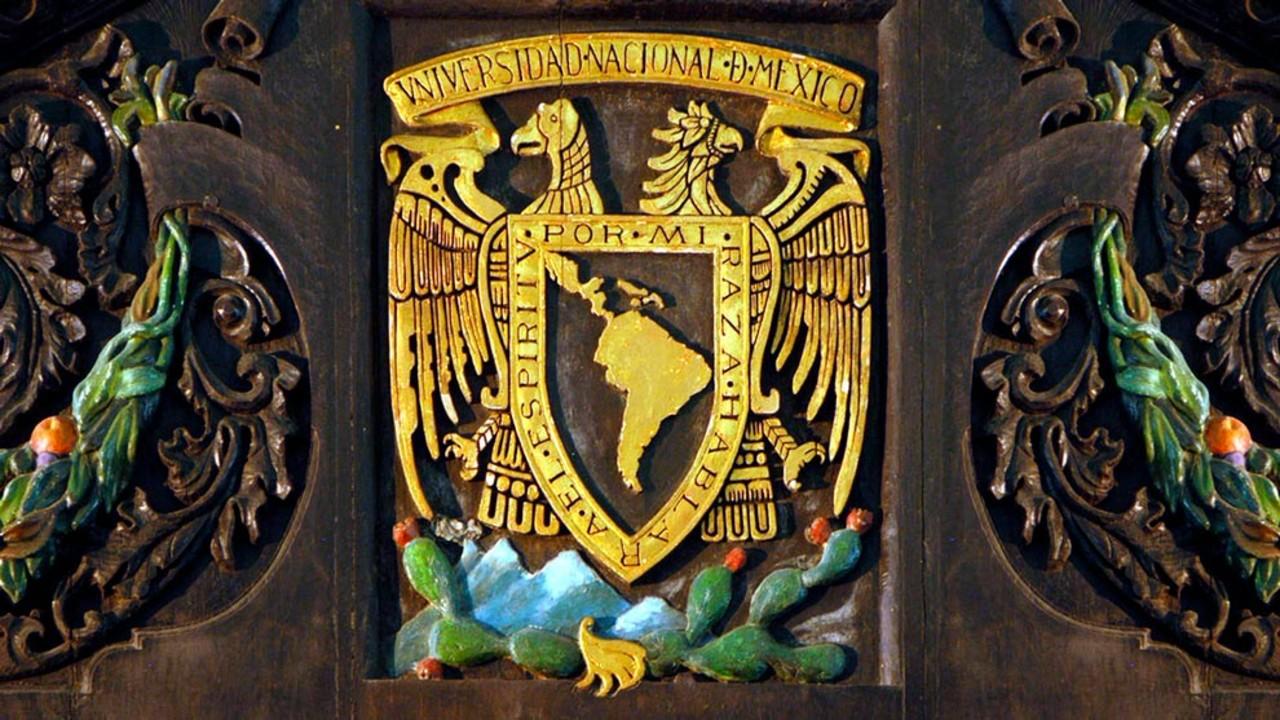 Escudo y lema de la UNAM, símbolos de identidad, celebran 100 años