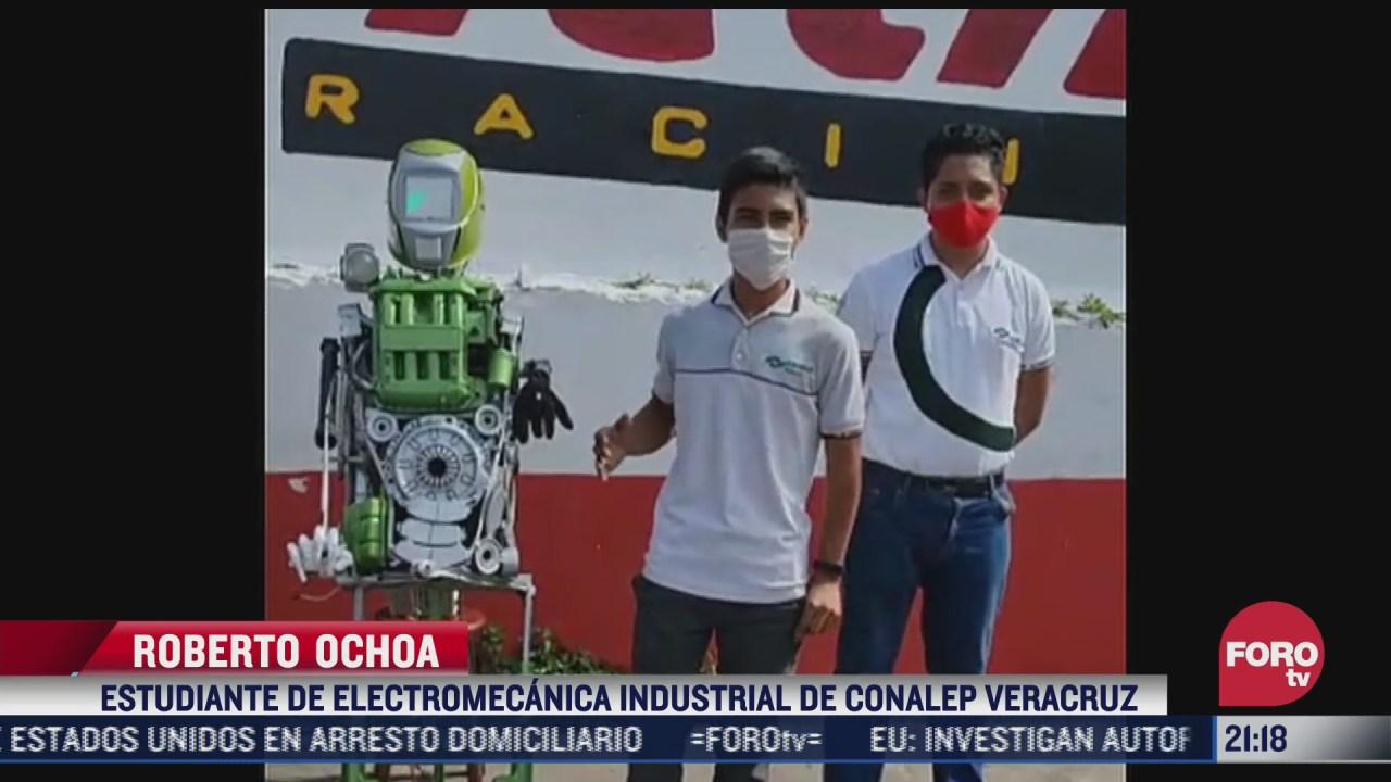 estudiantes de conalep crean robot que ayuda a cumplir protocolos covid