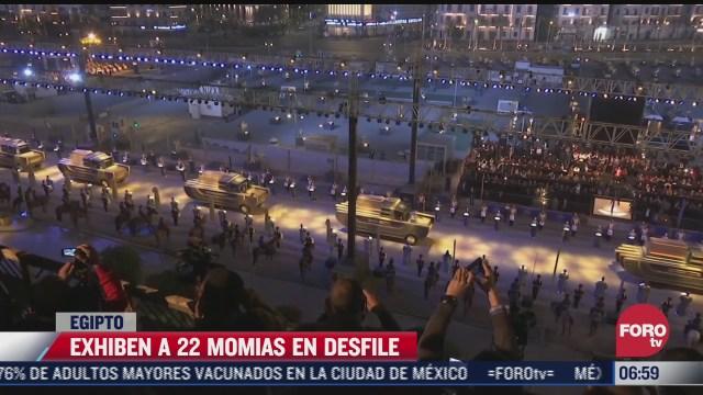 exhiben a 22 momias en desfile en egipto