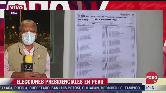habra segunda vuelta en elecciones presidenciales de peru