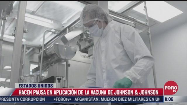 hacen pausa en aplicacion de vacuna johnson johnson en estados unidos