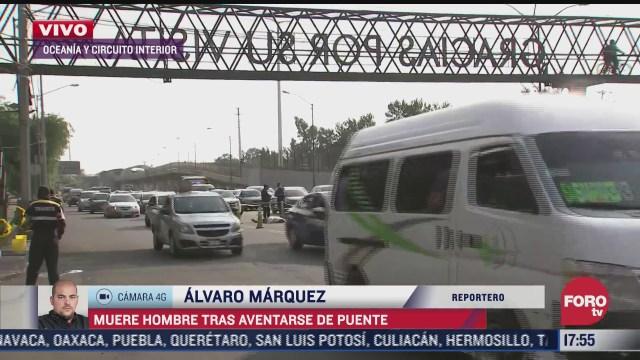 hombre muere tras arrojarse de un puente peatonal en la cdmx