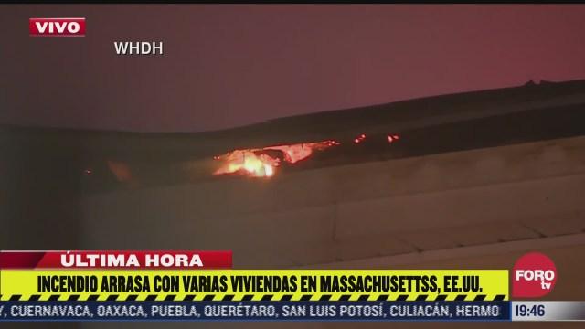incendio arrasa con varias casas en massachusetts eeuu