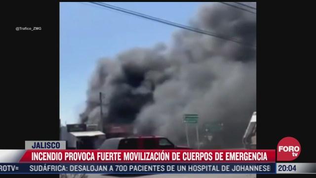 incendio provoca fuerte movilizacion de cuerpos de emergencia en jalisco