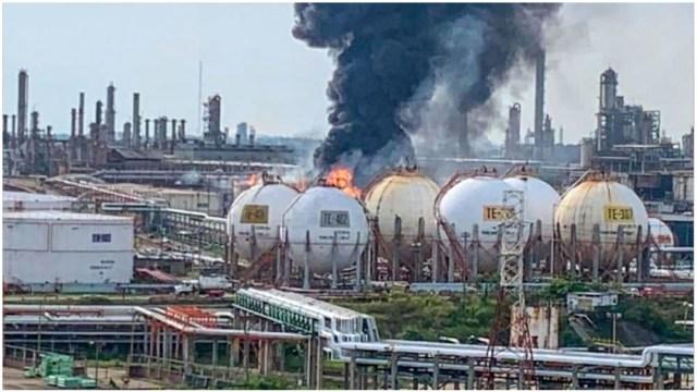 Incendio refinería