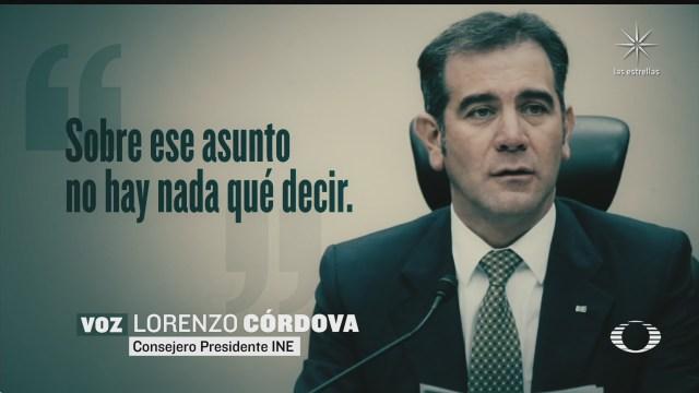 ine no responde a amenazas lorenzo cordova
