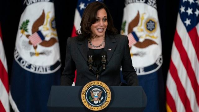 La vicepresidenta de Estados Unidos, Kamala Harris