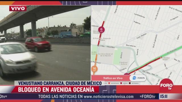 manifestantes liberan vialidad en avenida oceania