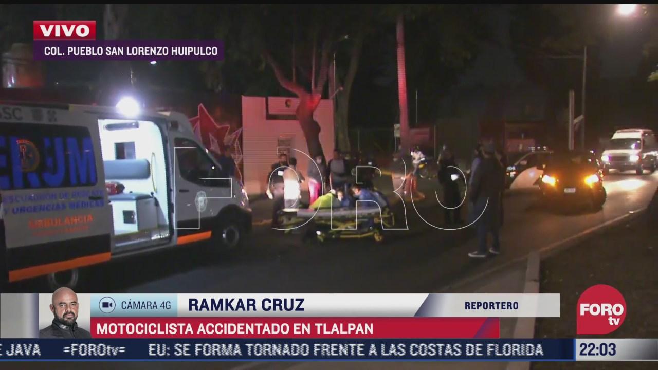 motociclista lesionado por aparatoso accidente en cdmx