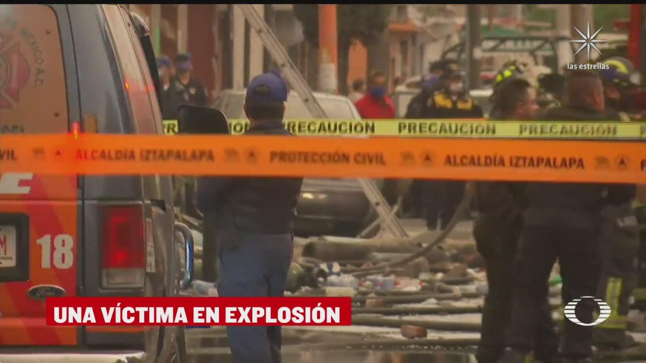 muere mujer tras explosion en iztapalapa