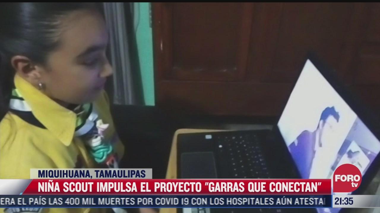 nina scout impulsa proyecto para apoyar a ninos sin conexion a internet