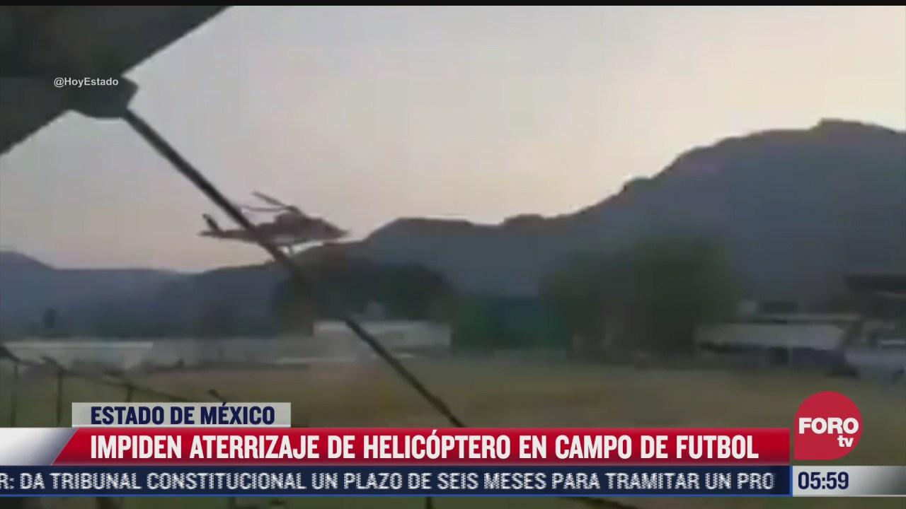 pobladores impiden aterrizaje de helicoptero con recien nacido grave en malinalco edomex