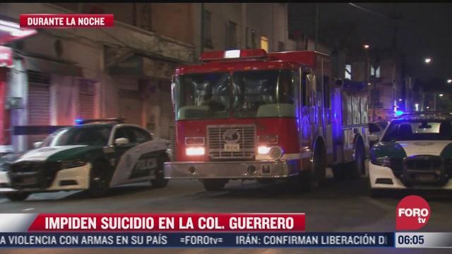 policias capitalinos impiden suicidio en la colonia guerrero