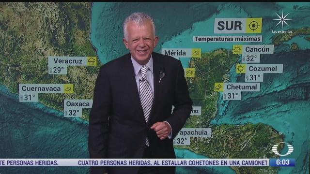 preven lluvias fuertes en el sureste de mexico