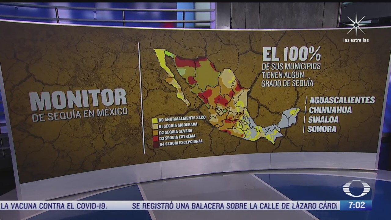 que zonas de mexico son las mas afectadas por la sequia