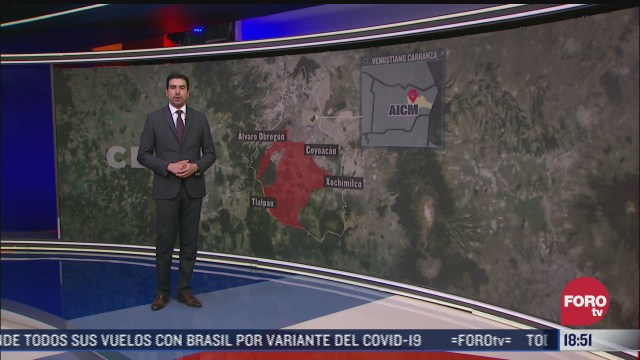 redisenan rutas aereas en el valle de mexico
