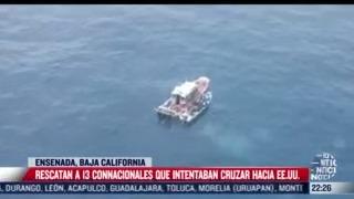 rescatan a 13 connacionales que intentaban cruzar hacia eeuu
