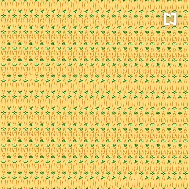 Encuentra dos zanahorias sin rabo, ilustración