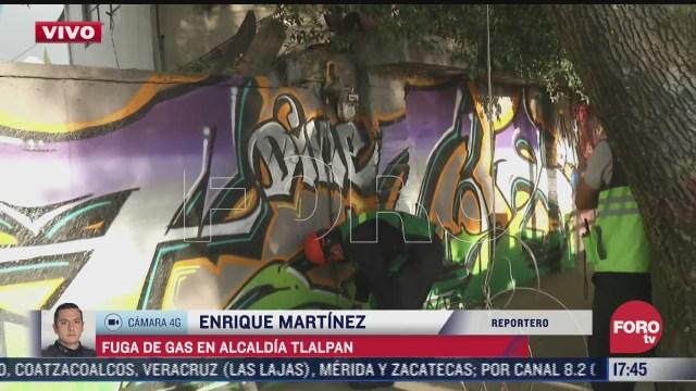 robo de tuberias provoca fuga de gas en la alcaldia tlalpan