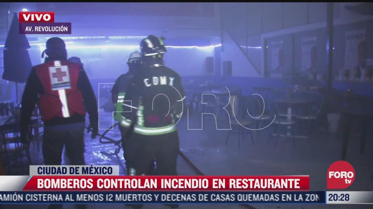 se registra incendio en restaurante de comida china en cdmx