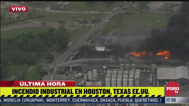 se registra un incendio industrial en houston