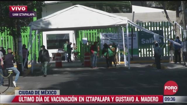 ultima jornada de vacunacion contra covid 19 a adultos mayores en iztapalapa
