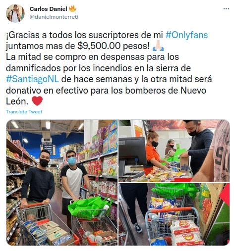 Donan ganancias de OnlyFans a damnificados de incendios en Nuevo León