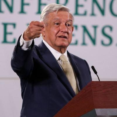 El presidente de México, Andrés Manuel López Obrador, durante su conferencia matutina en Palacio Nacional