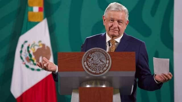 Andrés Manuel López Obrador durante la conferencia matutina.