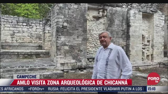 amlo supervisa construccion del tren maya en campeche
