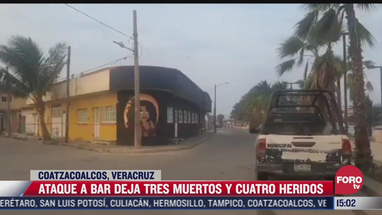 ataque a bar deja 3 muertos y 4 heridos en coatzacoalcos