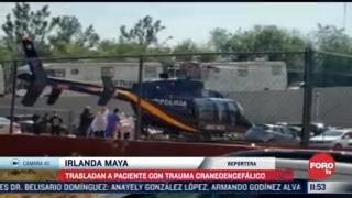 aterriza helicoptero con lesionado en accidente de linea 12 del metro cdmx