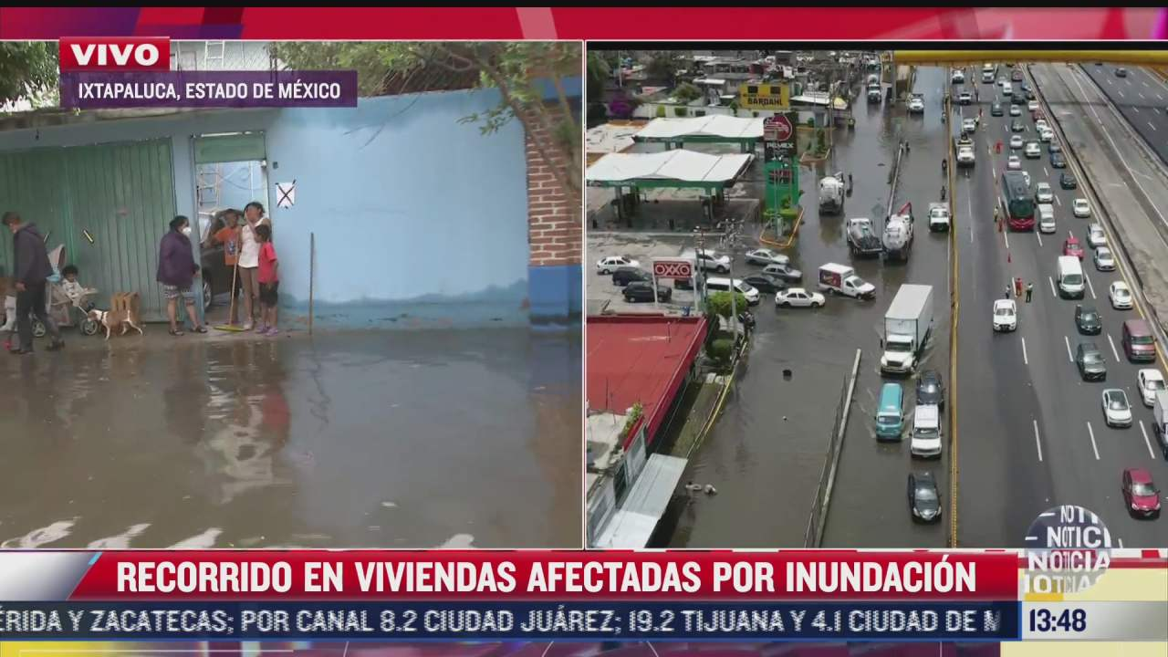 baja nivel de agua tras inundacion en colonia 20 de noviembre en ixtapaluca