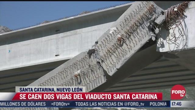 caen dos vigas del viaducto santa catarina nuevo leon