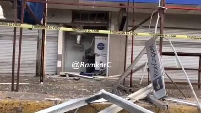 Explotan cajero automático para robarlo en Iztapalapa, CDMX