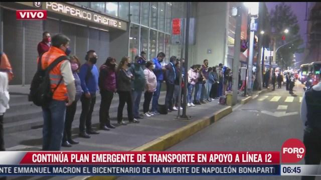 caos vial en tlahuac por servicio emergente de usuarios de la linea 12 del metro cdmx
