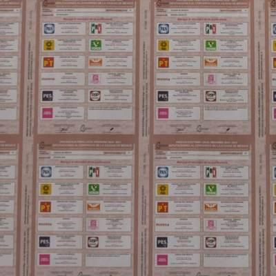 Comienza impresión de boletas para elecciones en la CDMX